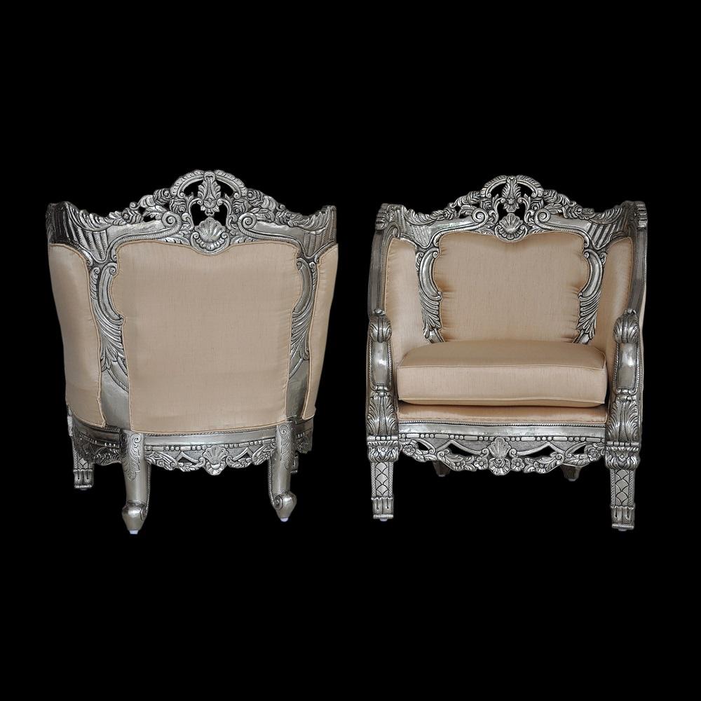 German Silver Chair