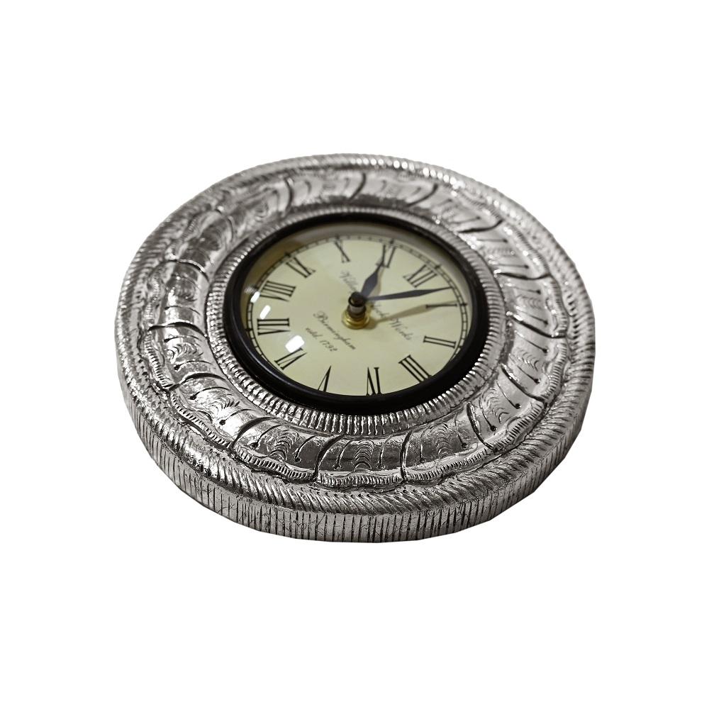Pure Silver Round Clock