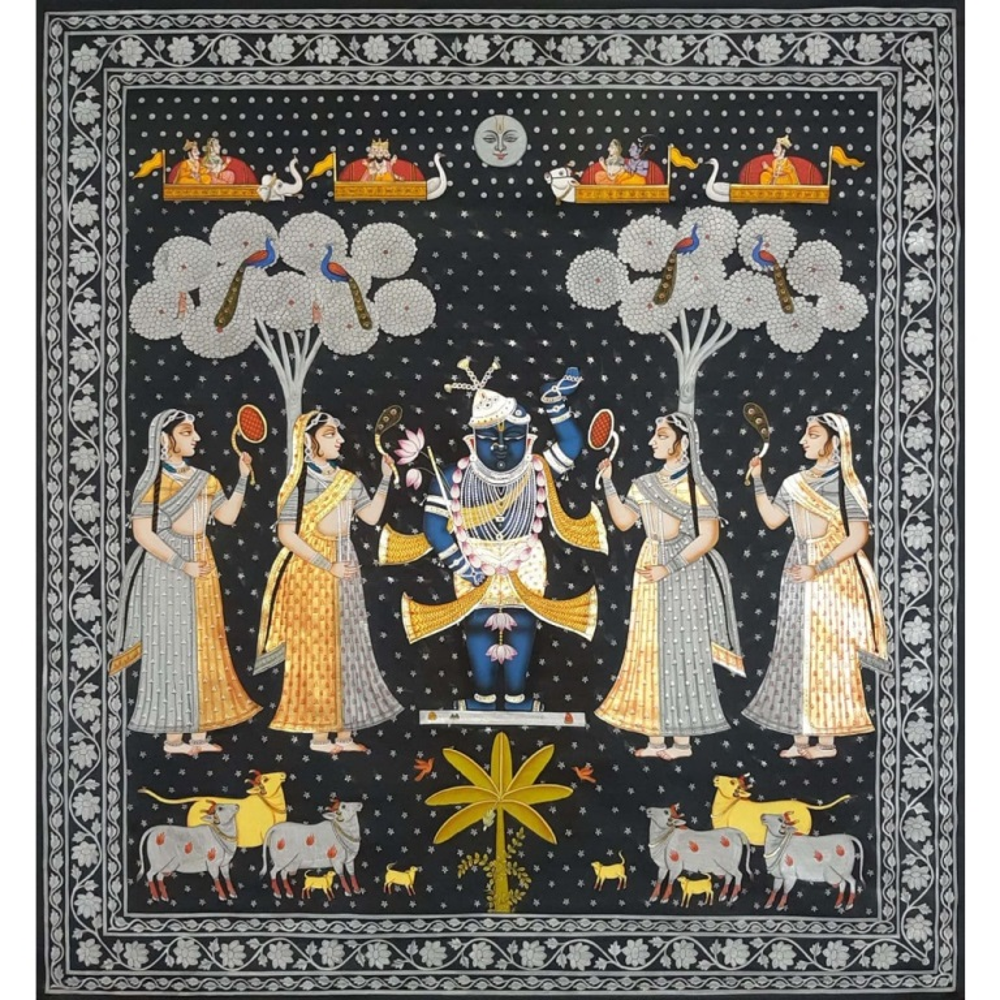 Shreenathji Sharad purnima painting