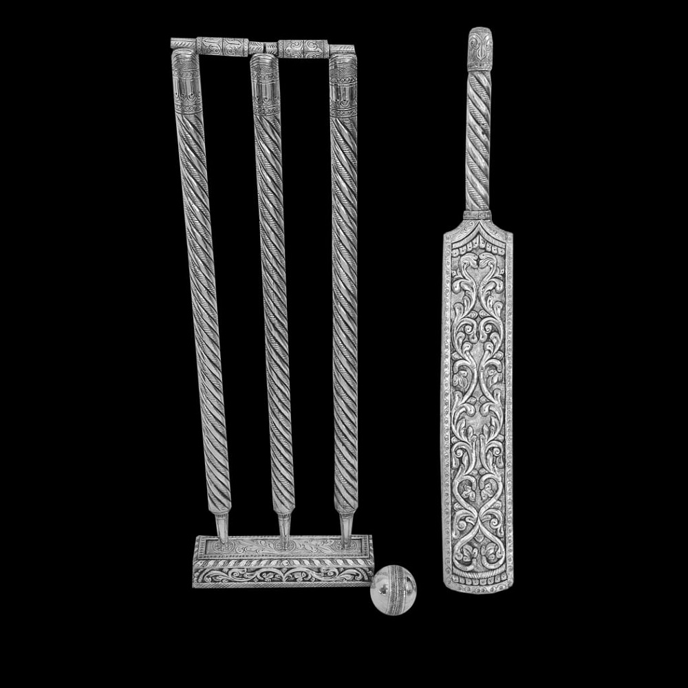 Silver Cricket Set