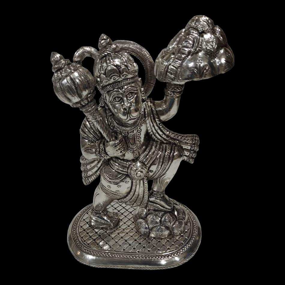 Silver Hanuman Murti