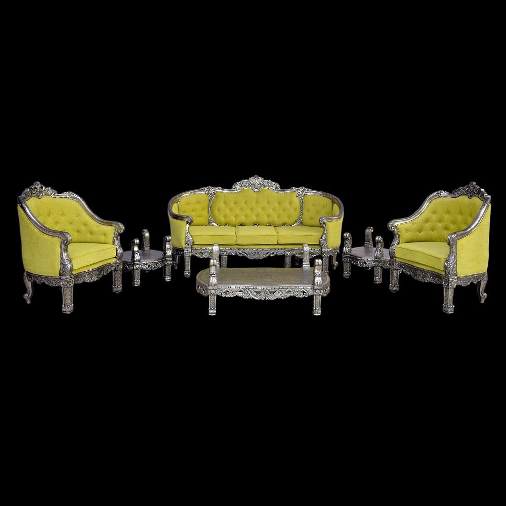 German Silver Sofa set